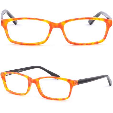orange glasses light plastic acetate frame women girl frame prescription