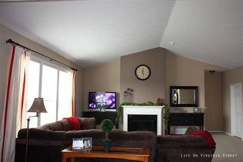 living room with accent wall living room 2