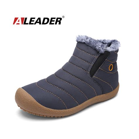 waterproof snow boots mens 2017 winter warm snow boots waterproof ankle boots
