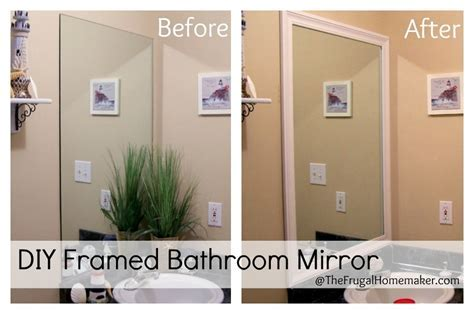 How to frame your bathroom mirrors (Beach inspired bathroom makeover?part 1)