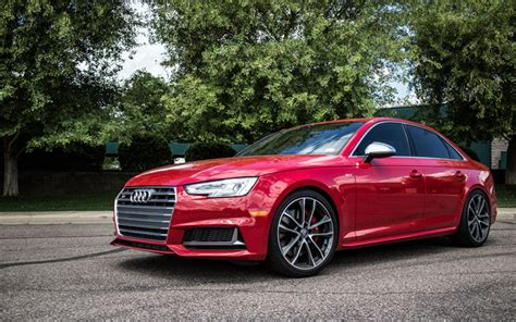 Audi S4 Rot by Herunterladen Hintergrundbild Audi S4 B9 2017 Autos Rot