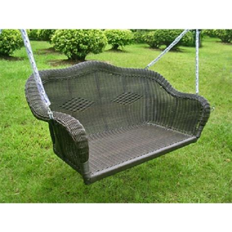 porch swing wicker wicker resin hanging loveseat swing patio furniture garden