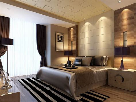 Luxurious Bedrooms Downlit Textured Wall Bedroom Luxury China Interior Design Ideas