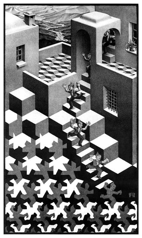 M C By M C cycle lithograph by m c escher 1938 m c escher