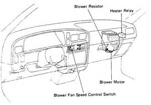 blower resistor located in a 1991 toyota how is it changed