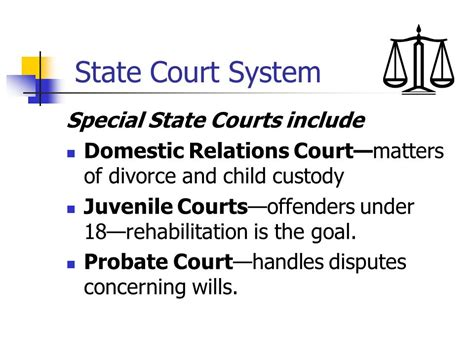 domestic relations law section 11 the federal court system and the state court system ppt