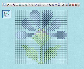 405 line pattern generator wings modular 6 embroidery software cross stitch module