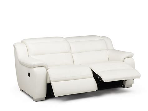 canape relax cuir blanc canap 233 2 places relax 233 lectrique cuir arena blanc canap 233