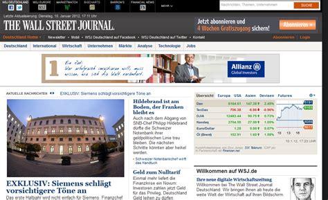 wsj mobile site wsj launches german language site talking biz news