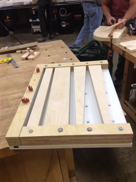 great cutting board gluing jig   time