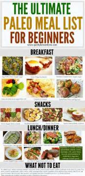 the ultimate paleo meal list for beginners paleo pinterest health best diets and kevin o