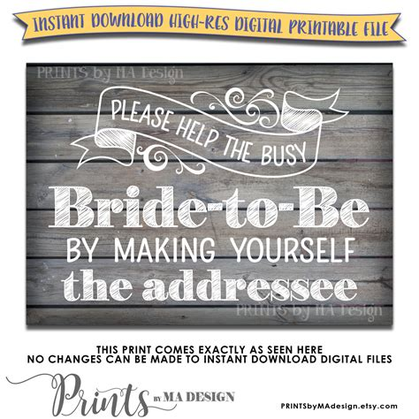 Bridal Address by Bridal Shower Address Envelope Sign Help The By