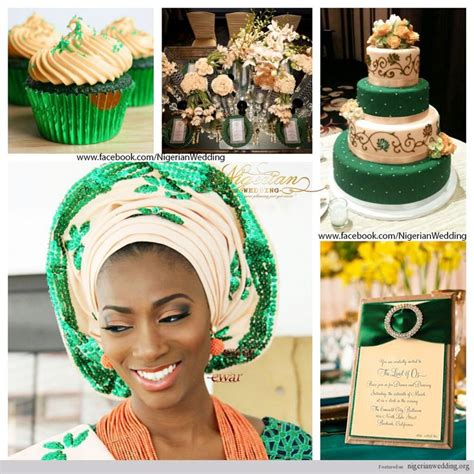 peach and green colour owambe 17 best images about nigerian wedding color schemes