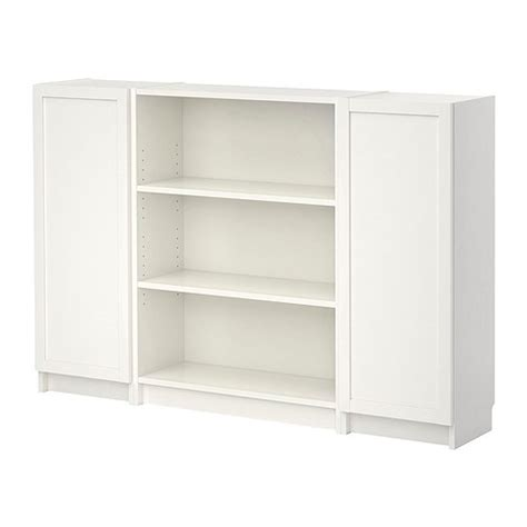 Ikea Bookcases With Doors Ikea White Billy Bookcase With Doors