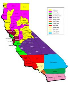 southern california map counties map of territory manager s areas