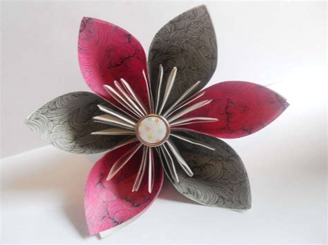 A Paper Flower - decorate your home with these beautiful origami flowers