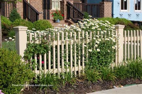 Landscape Design Front Yard Curb Appeal - picket fence ideas for instant curb appeal