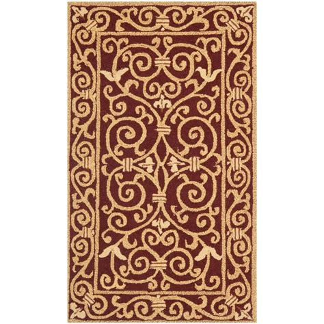 Safavieh Chelsea Burgundy 3 Ft 9 In X 5 Ft 9 In Area 5 X 9 Area Rugs