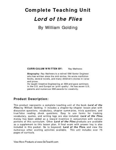 themes from lord of the flies worksheet answers 79 best lord of the flies images on pinterest teaching