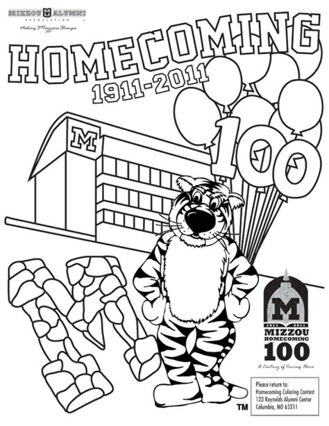mizzou tiger coloring page free coloring pages of mizzou tiger
