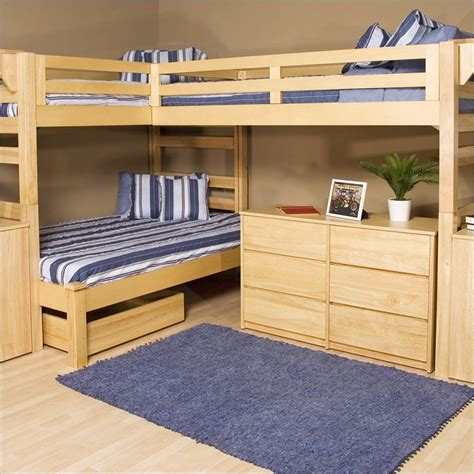 loft bed designs l shaped bunk bed plans bed plans diy blueprints