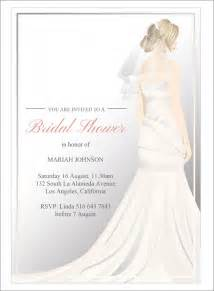 free bridesmaid invitation templates sle bridal shower invitation template 25 documents