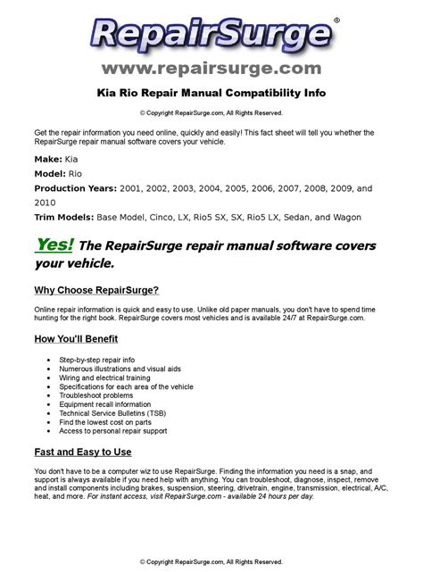 service manuals schematics 2003 kia rio free book repair manuals kia rio online repair manual for 2001 2002 2003 2004 2005 2006 2007 2008 2009 and 2010