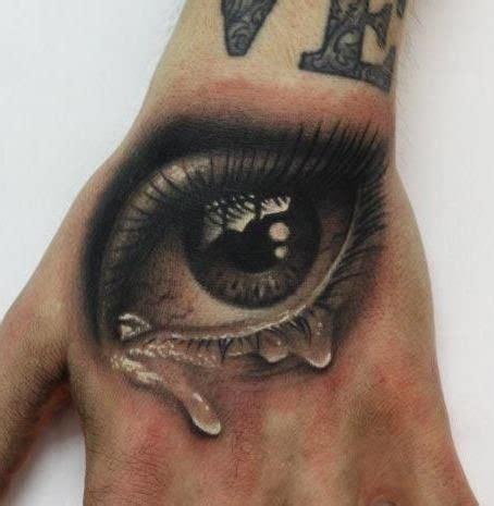tattoo eye wrist tearful realistic eye tattoo on wrist tattooimages biz