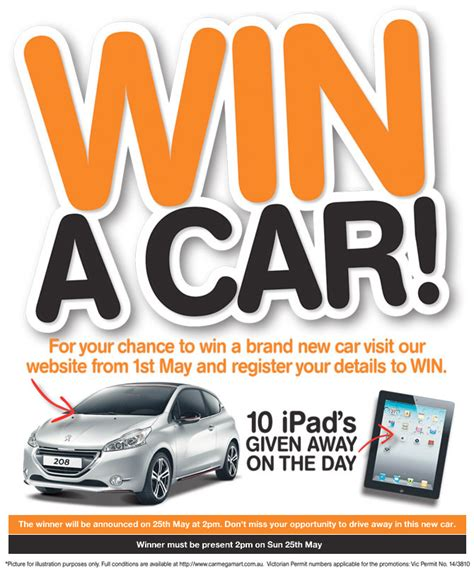 Instant Win Competitions Online - car megamart win a new car australian competitions