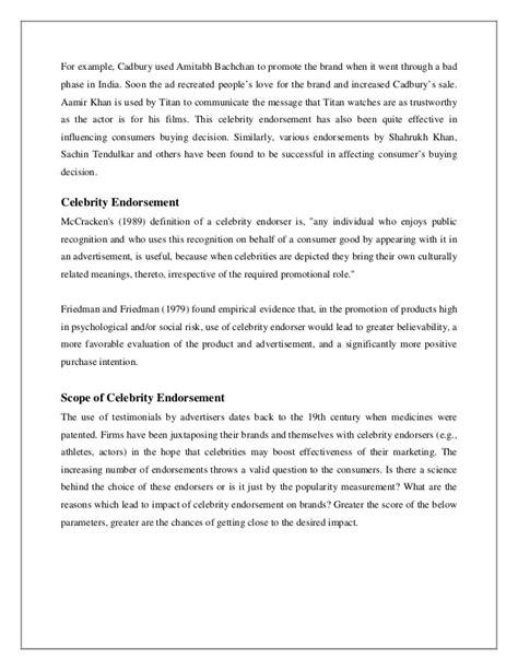 celebrity endorsement definition mccracken influence of celebrity endorsement on the consumer s