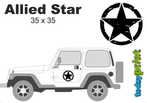 Jeep Wrangler Rubicon Aufkleber by Allied Retro T 252 R Aufkleber