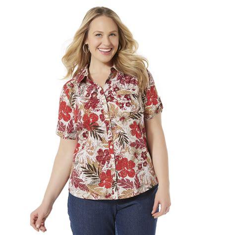Erika Pocket Navi erika s plus c shirt tropical print