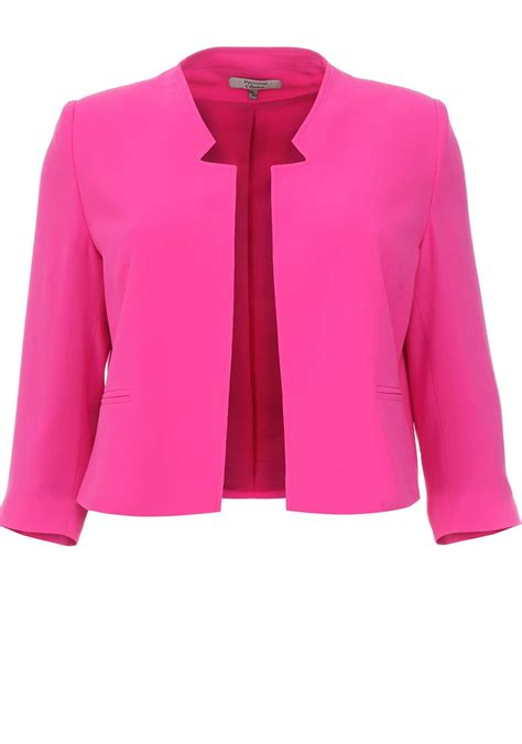 Jaket Pink personal choice cropped jacket pink mcelhinneys