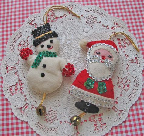 homespun christmas vintage ornaments