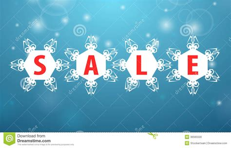 winter sale four snowflake stock illustration image of
