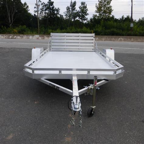 aluminum landscape trailer aluma 77 quot x 10 aluminum landscape trailer w bi fold tailgate new enclosed cargo utility