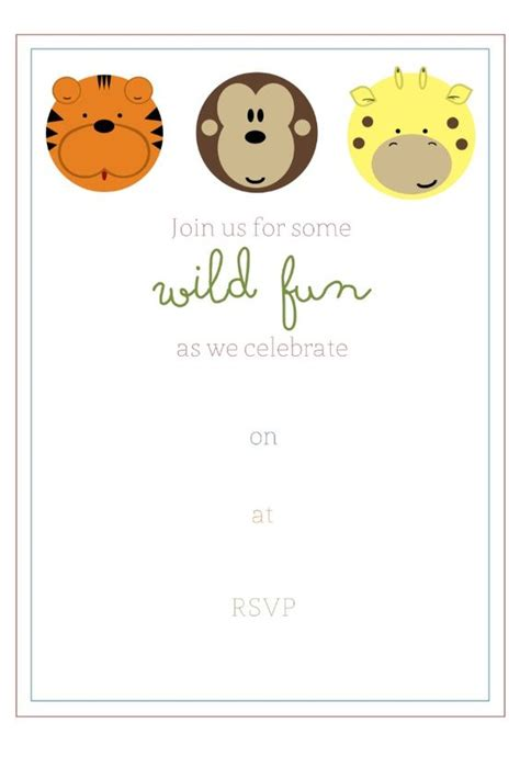 free printable birthday invitations jungle theme free printable jungle party invitation birthday party