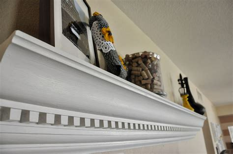 How To Make A Shelf With Crown Molding by Diy Crown Moulding To Custom Mantle View From Home