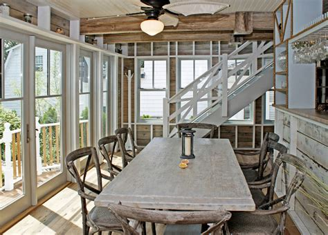 coastal dining room table renovated house with rustic coastal interiors home