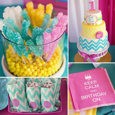 colour themes lollipop chevron candy colored birthday party popsugar moms