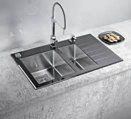 Designer Kitchen Sink Stainless Steel Kitchen Sinks And Modern Faucets Functional Kitchen Design Ideas