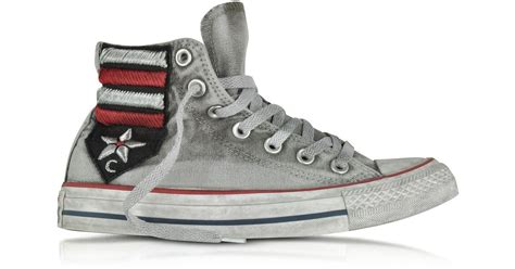 Converse Patchwork - lyst converse chuck all high vintage flag