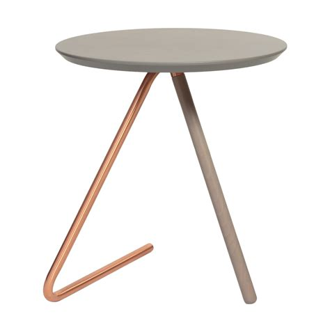 side tables for ls less than three grey and copper side table oliver bonas