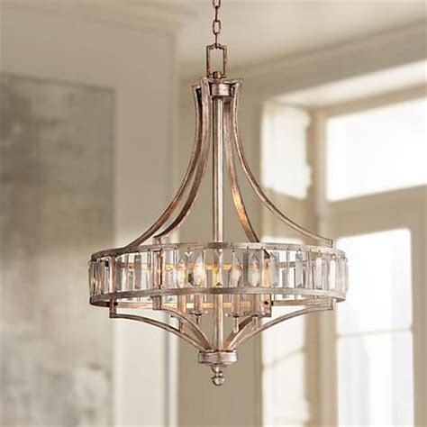 Silver Dining Room Chandelier Soft Silver 4 Light 24 Quot Wide Chandelier