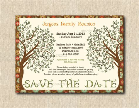 31 family reunion invitation template free psd vector
