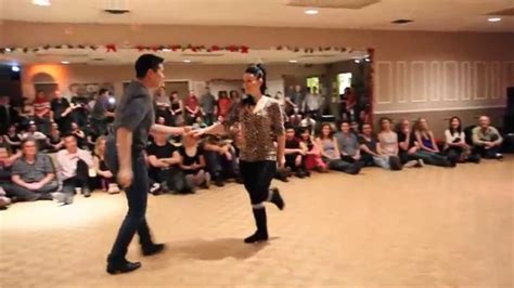 west coast swing philadelphia jen malcolm alpha vo wcs demo at urban beat christmas