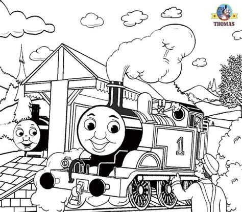 large coloring pages of thomas the train free printable halloween ideas kids activities thomas