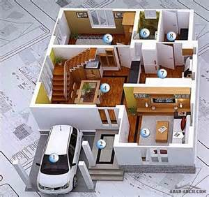 3d modern house plans collection house plans pinterest stylish modern home 3d floor plans