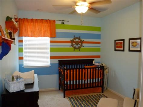 curtain rods for nursery like the theme ideas for baby boy room striped walls curtain rods and colors