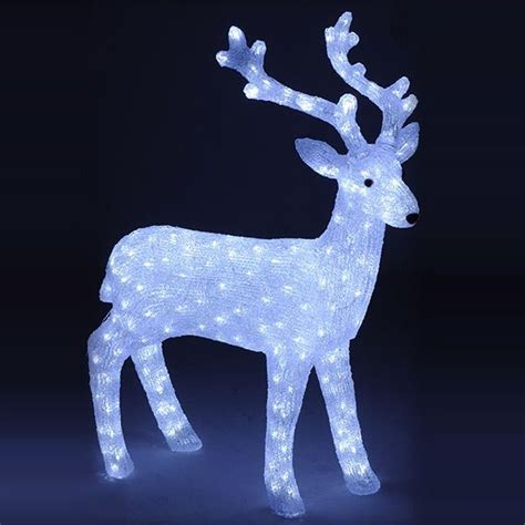 Renne Di Babbo Natale Luminose renna di natale led ch 226 tel bianco freddo sagoma luminosa